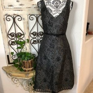 Molly New York lace print gray and black dress